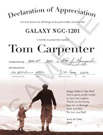 name a galaxy father certificate