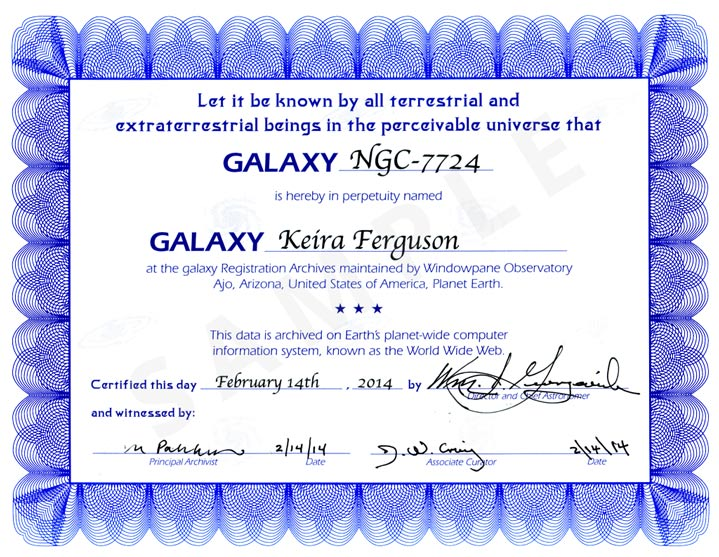 Naming A Star For Free With A Certificate Print Sale