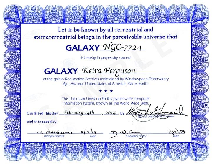 Star Certificate Template