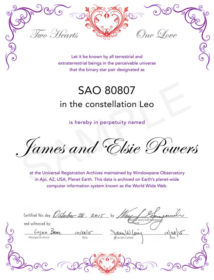 Good Star Naming Certificate Template Images Star Naming