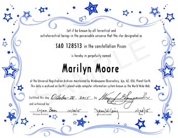 Star Naming Certificate Template Templates
