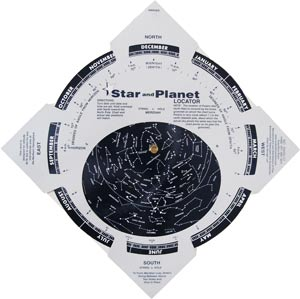planisphere star locator map