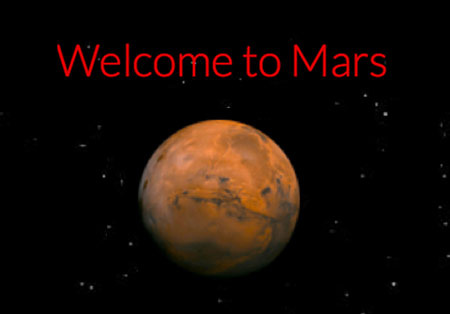 welcome to the planet mars -#main