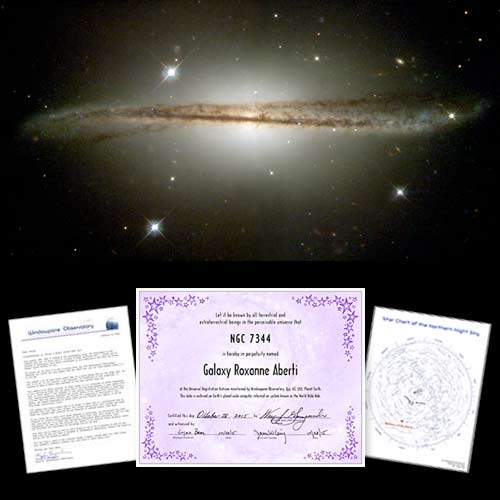 Name a Galaxy Certificate Package