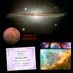 Name a Galaxy Voyage to Mars Package