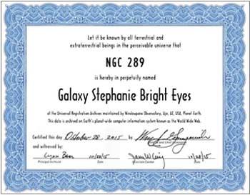 name a galaxy standard certificate